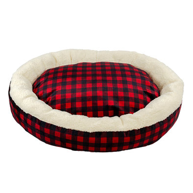 Donut Bed - Buffalo Check