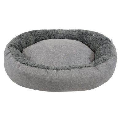 Donut Bed - Faux Solid Charcoal