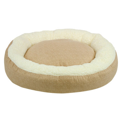 Donut Bed - Faux Solid Cream