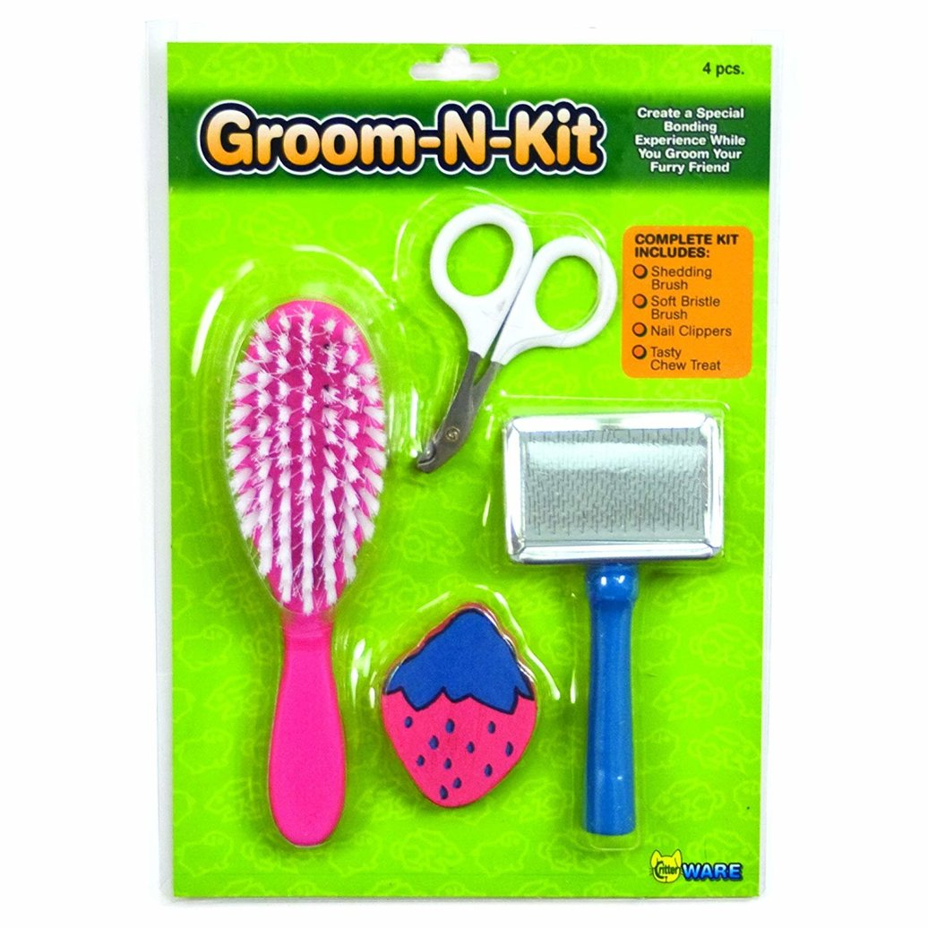 View larger image of Small Animal Grooming Kit - 4 Pc