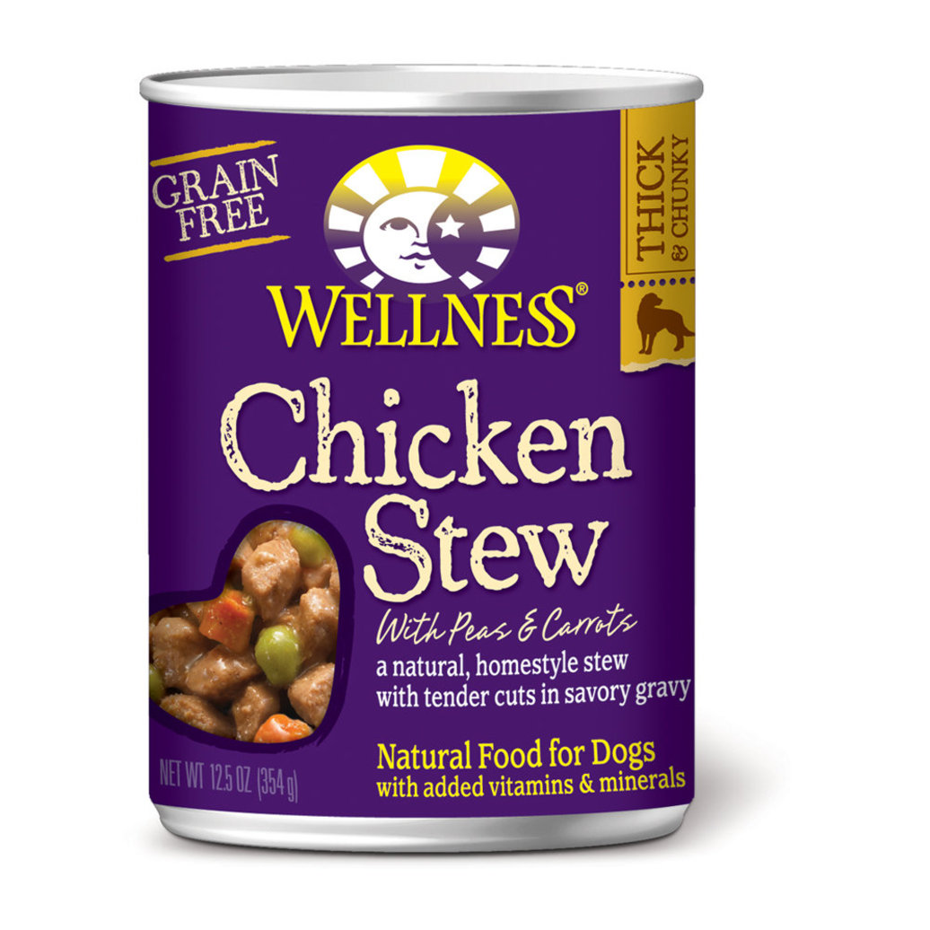 View larger image of Canned Dog Food, Chunks & Gravy, Chicken Stew with Carrots & Potatoes - 12.5 oz