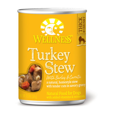 Canned Dog Food, Chunks & Gravy, Turkey Stew with Barley & Carrots - 12.5 oz