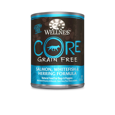 Canned Dog Food, Core, Grain-Free, Salmon, Whitefish & Herring - 12.5 oz
