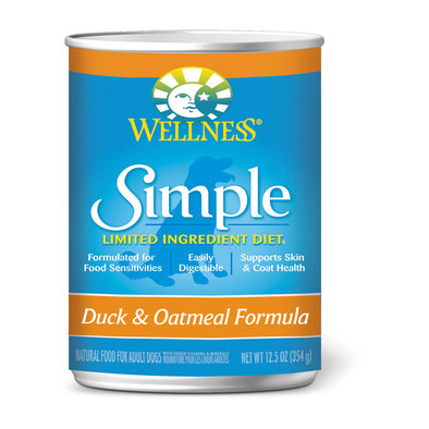 Canned Dog Food, Simple Limited Ingredient, Duck & Oatmeal - 12.5 oz