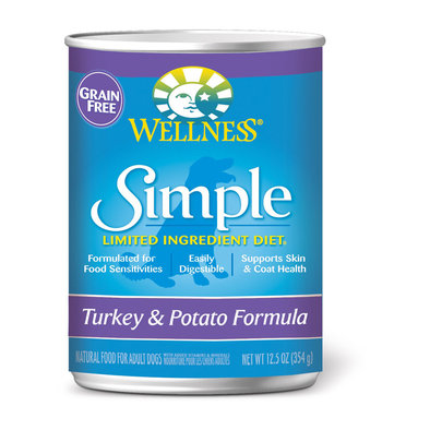 Canned Dog Food, Simple Limited Ingredient, Grain Free Turkey & Potato - 12.5 oz