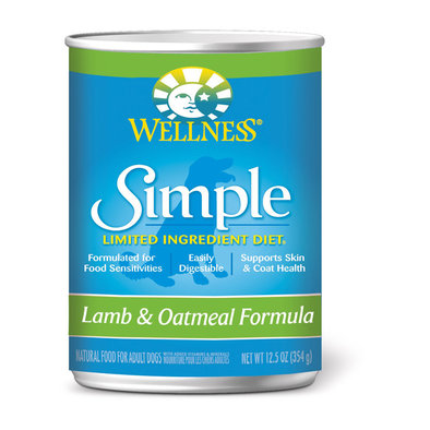 Canned Dog Food, Simple Limited Ingredient, Lamb & Oatmeal - 12.5 oz