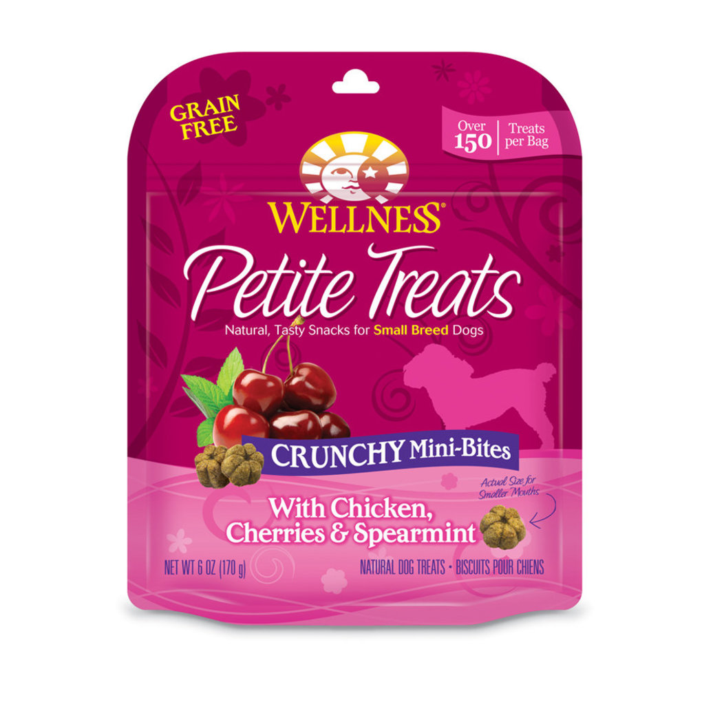View larger image of Petite Treats, Crunchy Mini-Bites with Chicken, Cherries & Spearmint - 6 oz