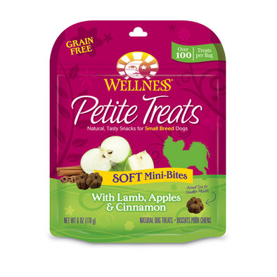 Petite Treats, Soft Mini-Bites with Lamb, Apples & Cinnamon - 6 oz