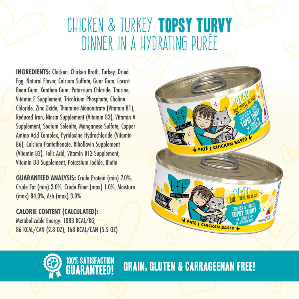 View larger image of Can, Feline Adult - Topsy Turvy Chicken & Turkey - 156 g
