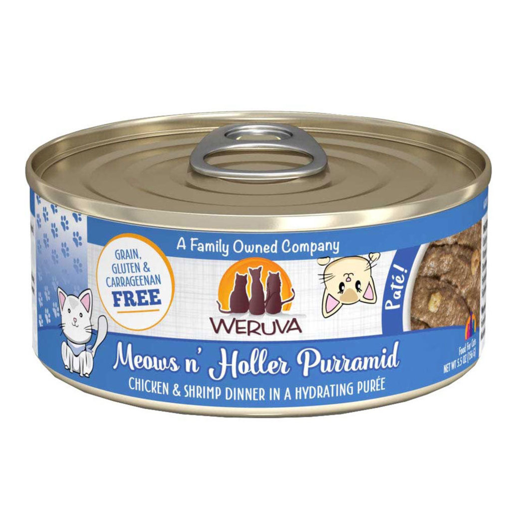 View larger image of Can Feline - Meows n' Holler PurrAmid - Chicken & Shrimp - 156 g