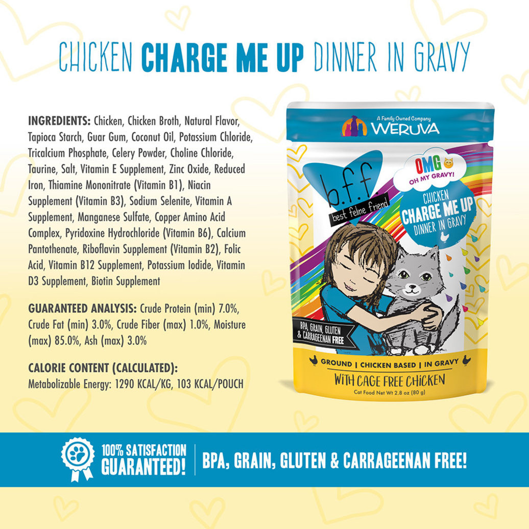 View larger image of Pouch, Feline Adult - Chicken Charge Me up - 80 g