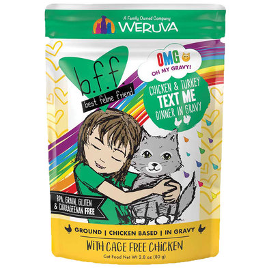 Pouch,Feline Adult - Chicken & Turkey Text Me-80g