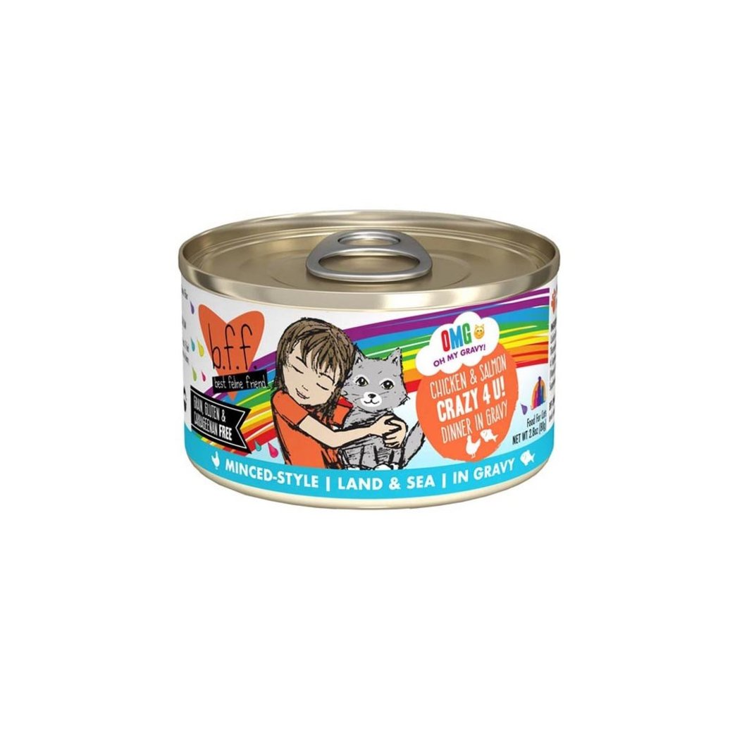 View larger image of Can, Feline Adult - Crazy 4 U - Chicken & Salmon - 156 g