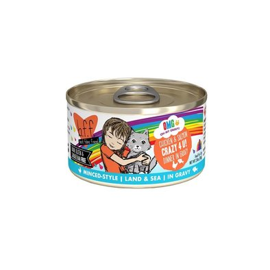 Can, Feline Adult - Crazy 4 U - Chicken & Salmon - 156 g