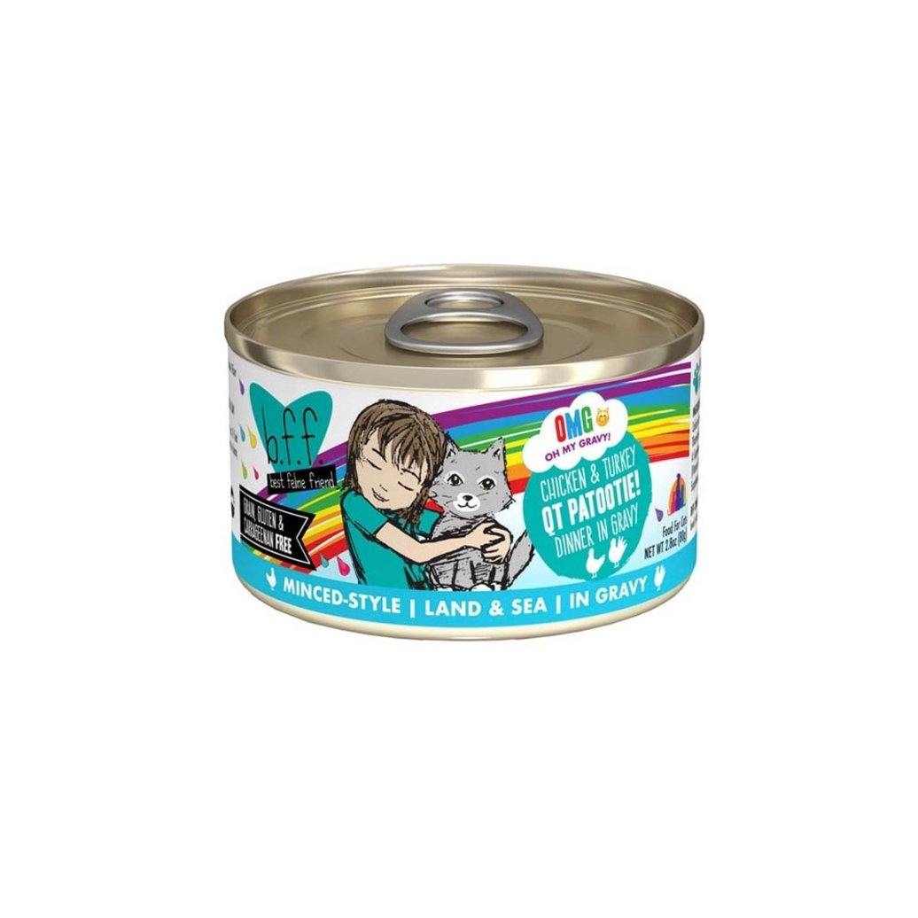 View larger image of Can, Feline Adult - QT Patootie - Chicken & Turkey - 156 g