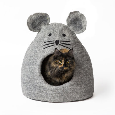 Wool Pet Cave - Mouse - Grey