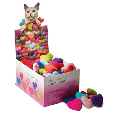 Wool Pet Toy - Hearts