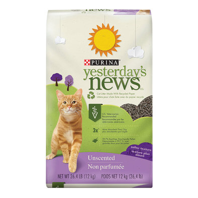 Paper Cat Litter, Unscented Soft Texture