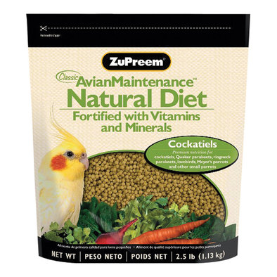 Natural with Added Vitamins & Minerals, Cockatiel - 2.5 lb