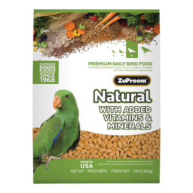 Natural with Added Vitamins & Minerals, Parrot & Conure - 3 lb